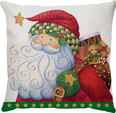 Capa de Almofada Noel