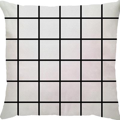 Capa de Almofada Grid Branco
