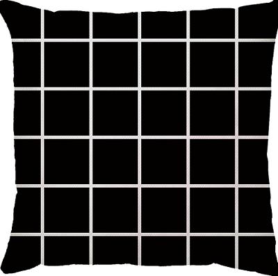 Capa de Almofada Grid Preto