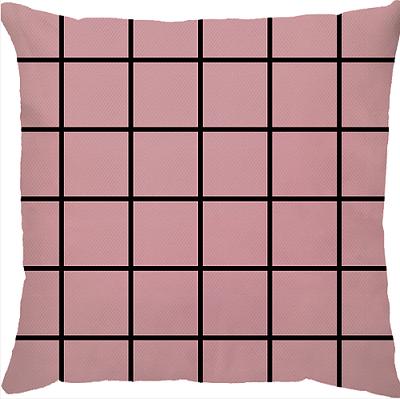 Capa de Almofada Grid Rosa