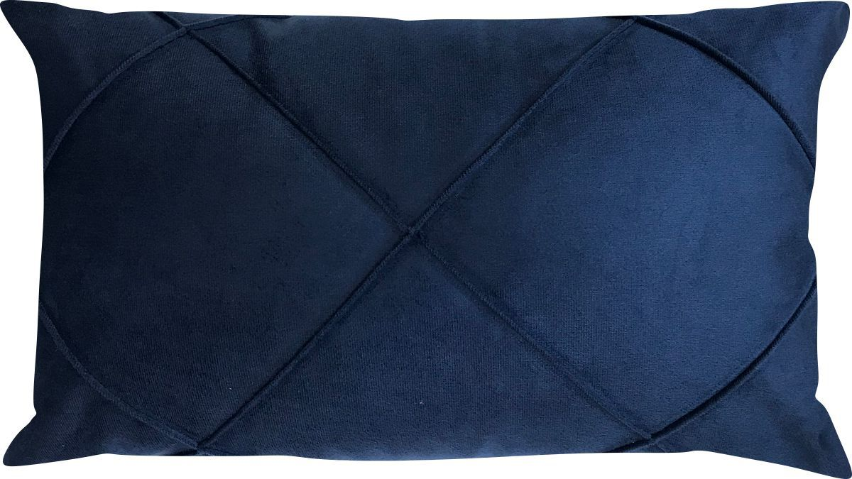 Capa de Almofada Drapeada Retangular Veludo Azul Marinho 30x45