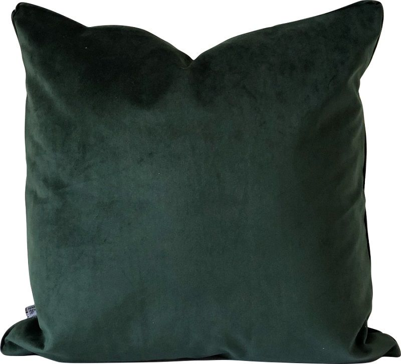 Capa de Almofada Veludo Cordão Verde 55x55