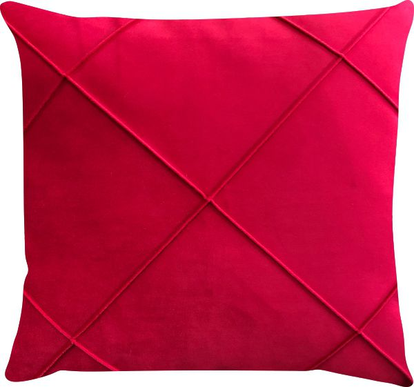 Capa de Almofada Drapeada Veludo Vermelho