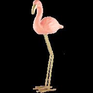 Estatueta em Cerâmica (Flamingo) Pequeno
