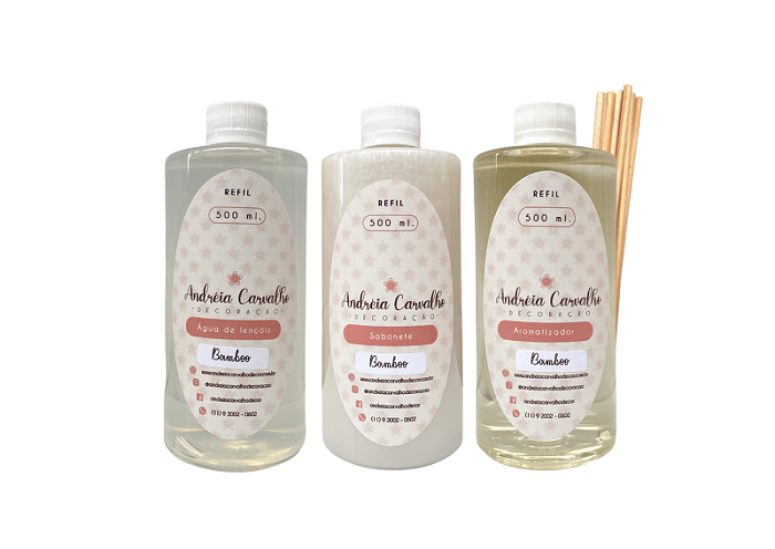 Kit de Refis Bamboo c/ Varetas 500 ml