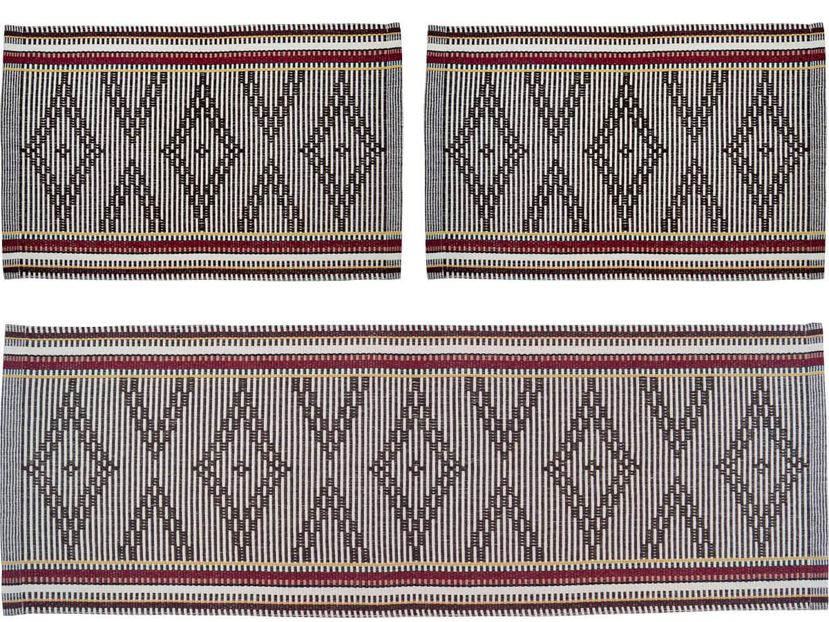 Kit Tapete P/ Cozinha 3 Pcs Estocolmo Multi Cores