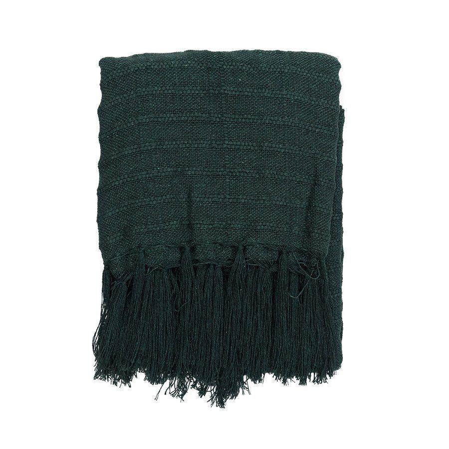 Manta Decorativa Algodão Verde Militar 140x180