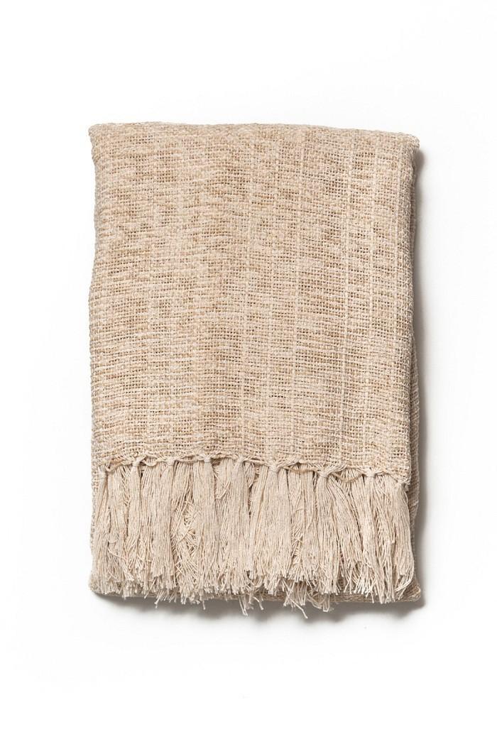Manta Decorativa Chenille Areia 115x180