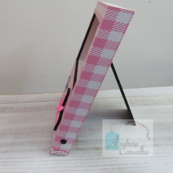 Porta Retrato com Luz de LED Horizontal Rosa