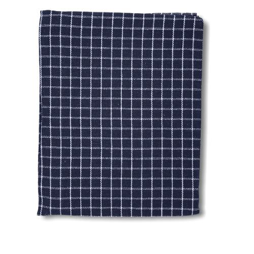 Toalha de Mesa Quadrada Algodão Xadrez Azul Marinho 90x90