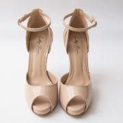 Sapato D'orsay Nude com Recorte