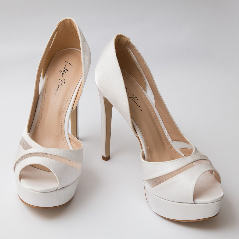 Sapato Peep Toe Branco
