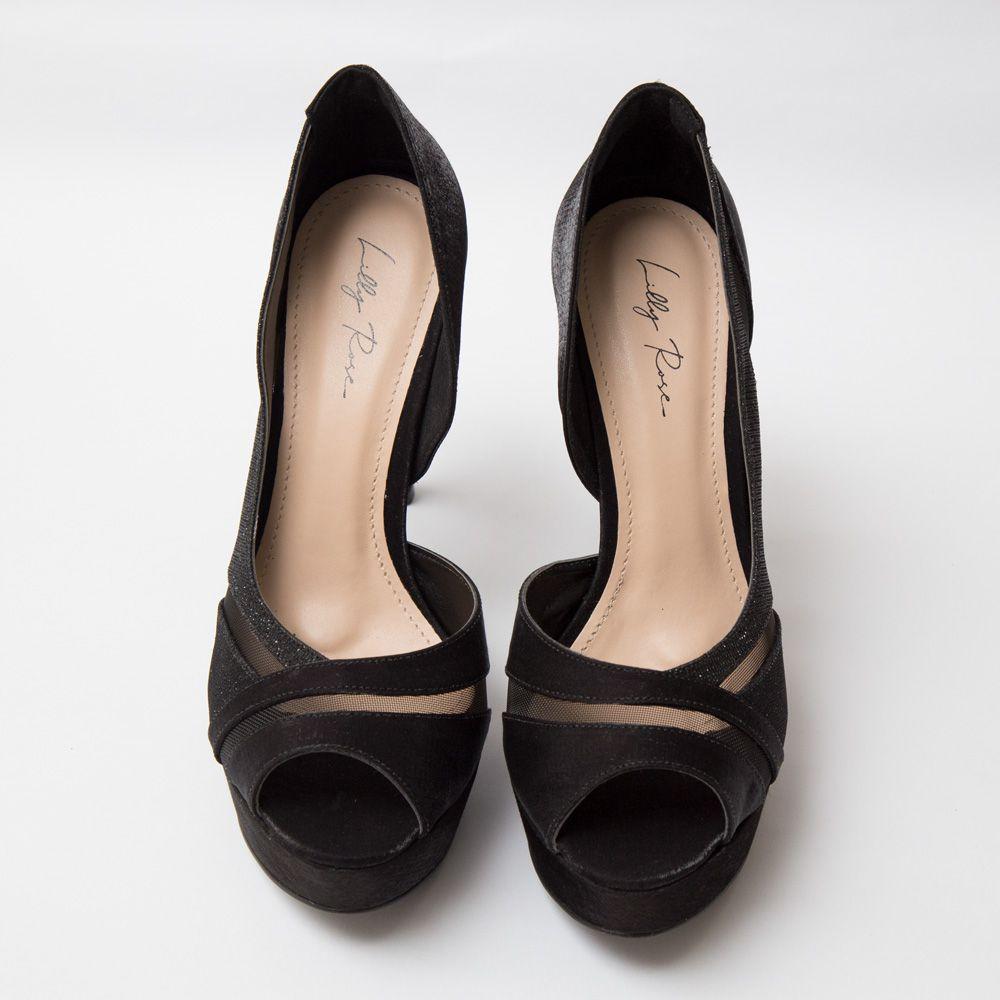 Sapato Peep Toe Preto