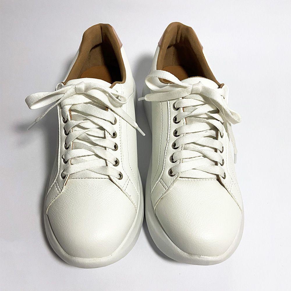 Tênis Sneaker Branco e Rosa Blush