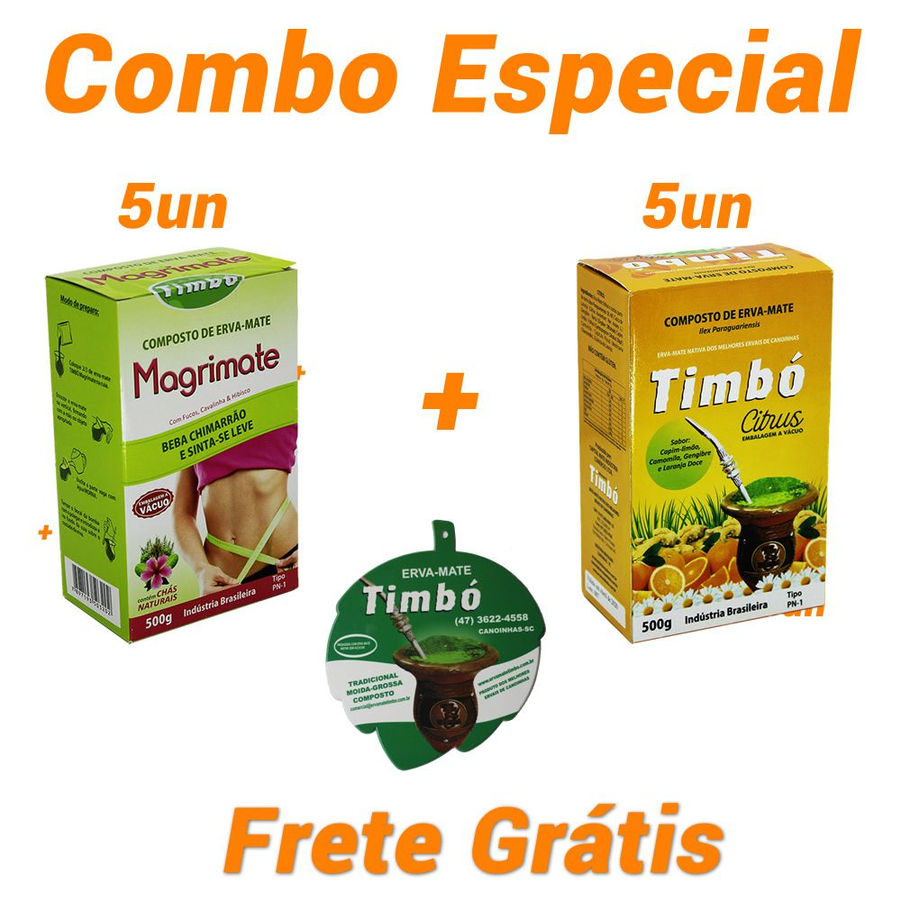 Combo - 5 Magrimate + 5 Citrus + 1 Vira-mate + Frete Grátis