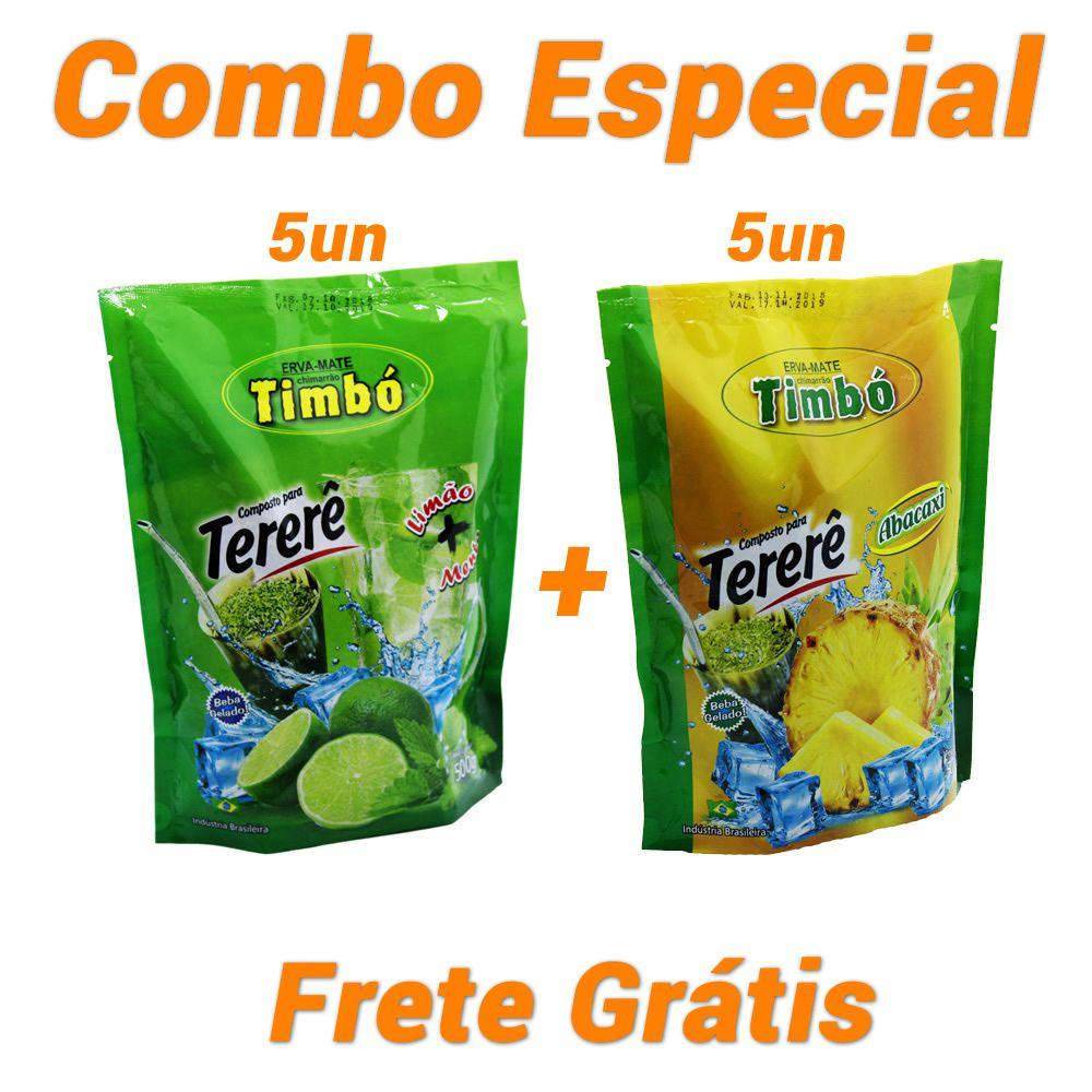 Combo - 5 Tererê Limão + 5 Tererê Abacaxi + Frete Grátis