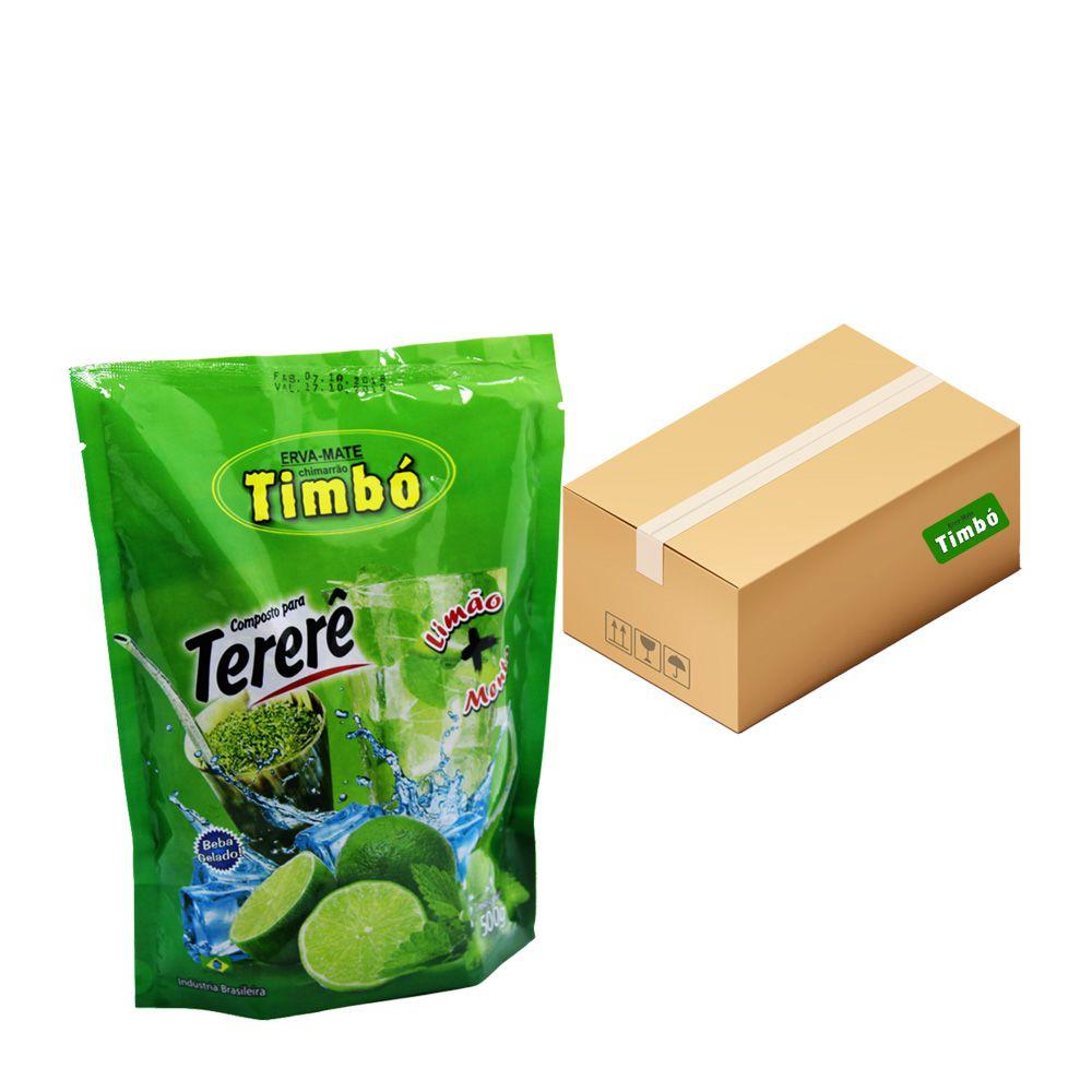 Composto de Tererê Limão e Menta - Fardo com 10x500g