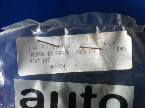 Reparo Da Sapata De Freio Fiat 147