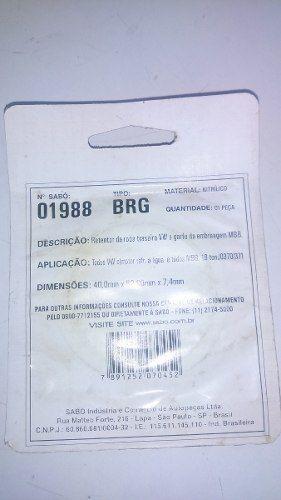 Retentor De Roda Traseira Vw Sabo 1988