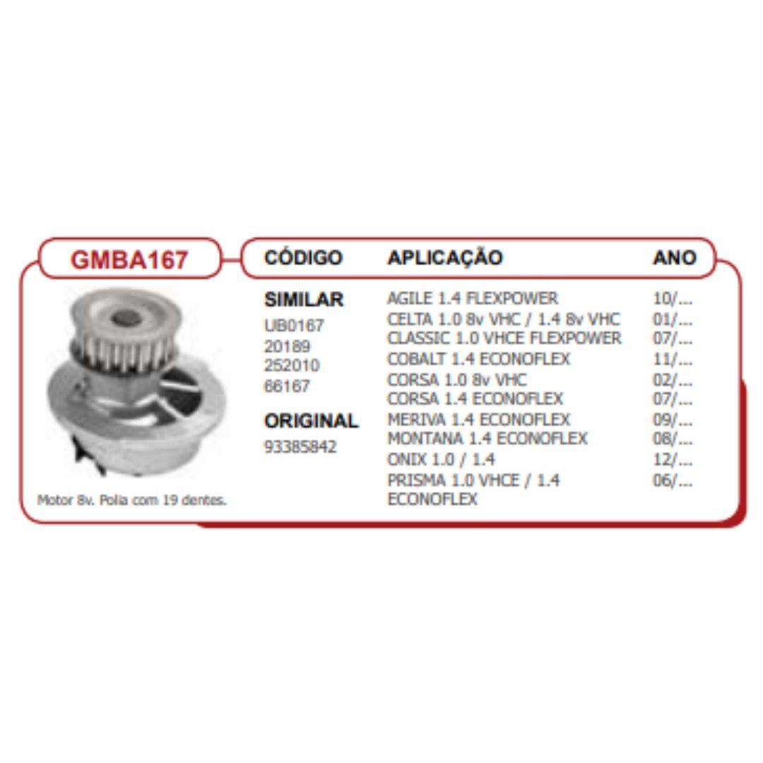Bomba dagua Corsa-Celta-Prisma-Classic-Agile-Meriva