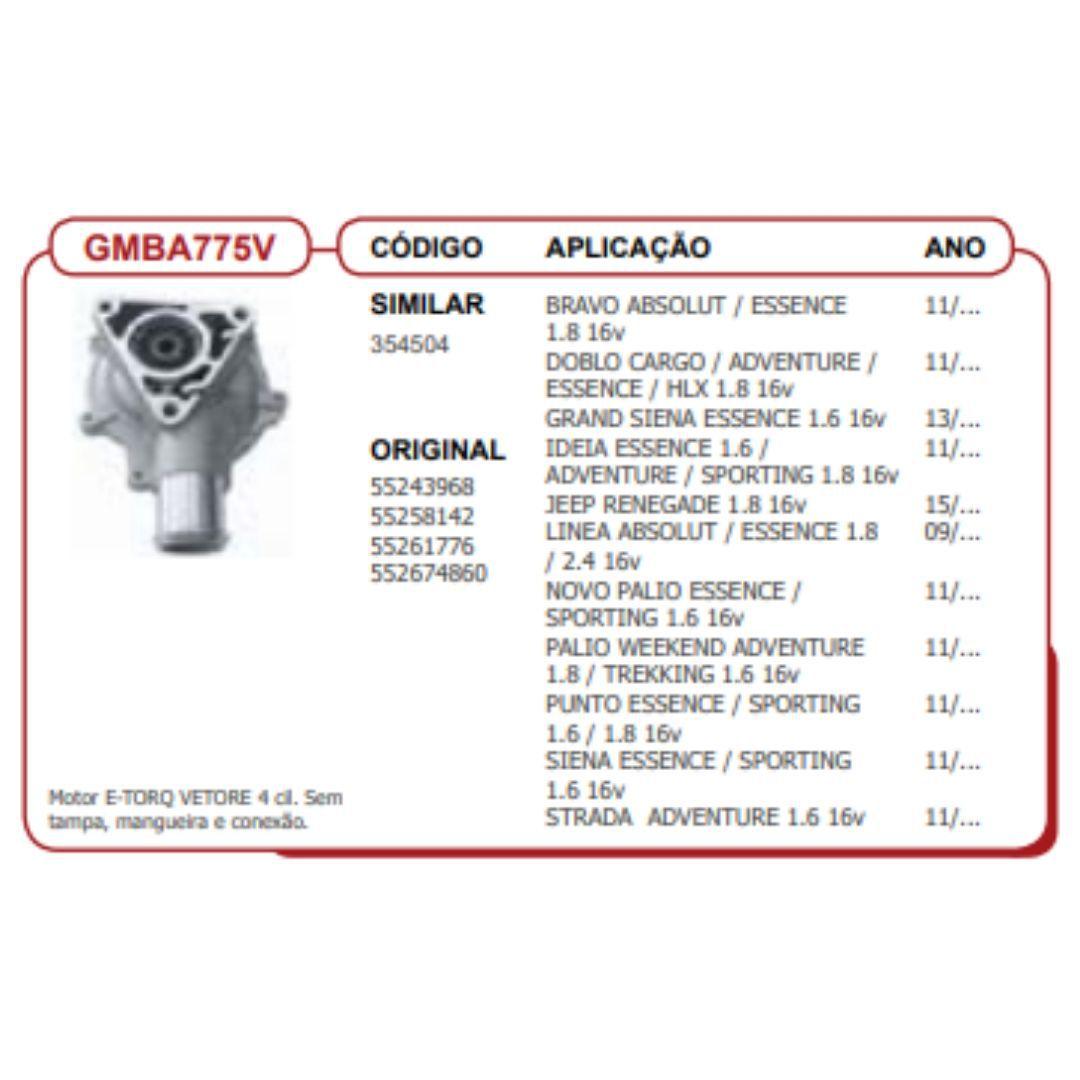 Bomba dagua Palio 1.8/1.6 e-torque -GMBA775v