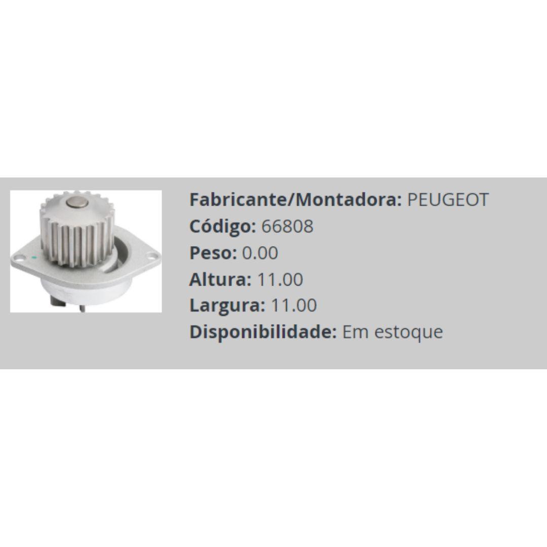 Bomba dagua pegeout/ citro 206 1,6 16V 0 todos