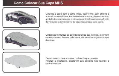 Capa Auto C/forro carro autos mhs-universal p-16328-mhs
