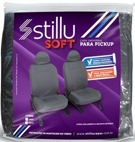 Capa Banco pick-up Cinza/ Pto-12101-Stillu Soft