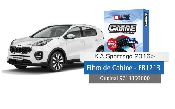 Filtro Cabine-Sportage 16/ED-Filtros Brasil-FB 1213