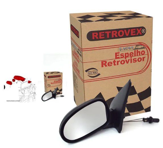 Retrovisor Gol g2 / 95 2p-Ext L/D-C/Ctrl-1501.0