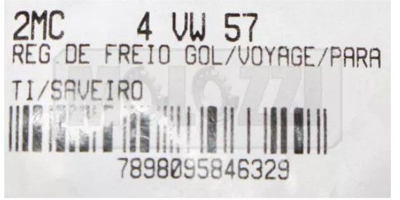 Regulador Freio Vw Gol/voyage/parati/saveiro/santana 86/