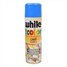 Tinta spray azul brilhante white color 340ml - 24859-Orbi