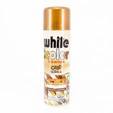 Tinta spray metálica bronze - white color 340ml- 21030-Orbi