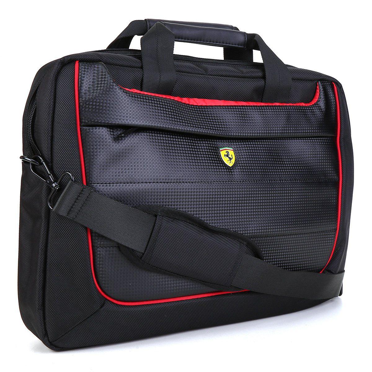 Bolsa Ferrari p/ Notebook com alça transversal