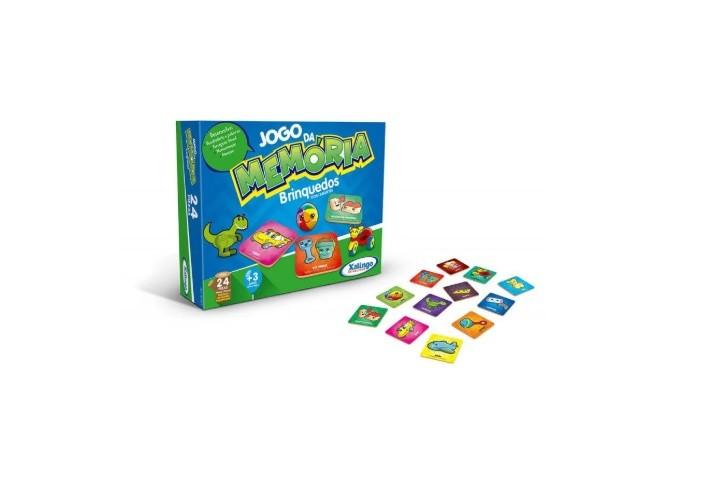 Jogo da Memória Brinquedos 24 Peças