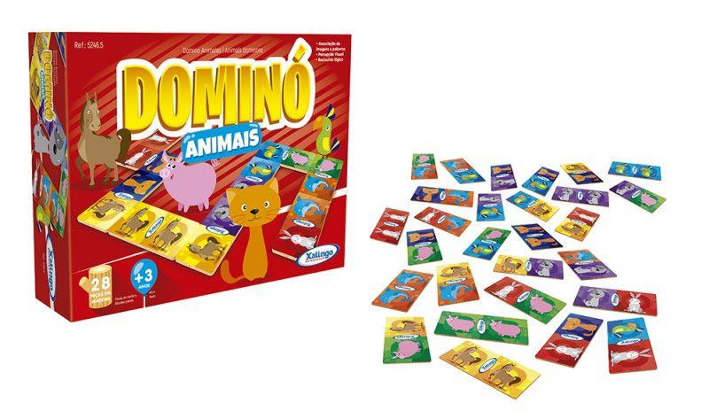 Jogo Dominó Animais 28 Peças