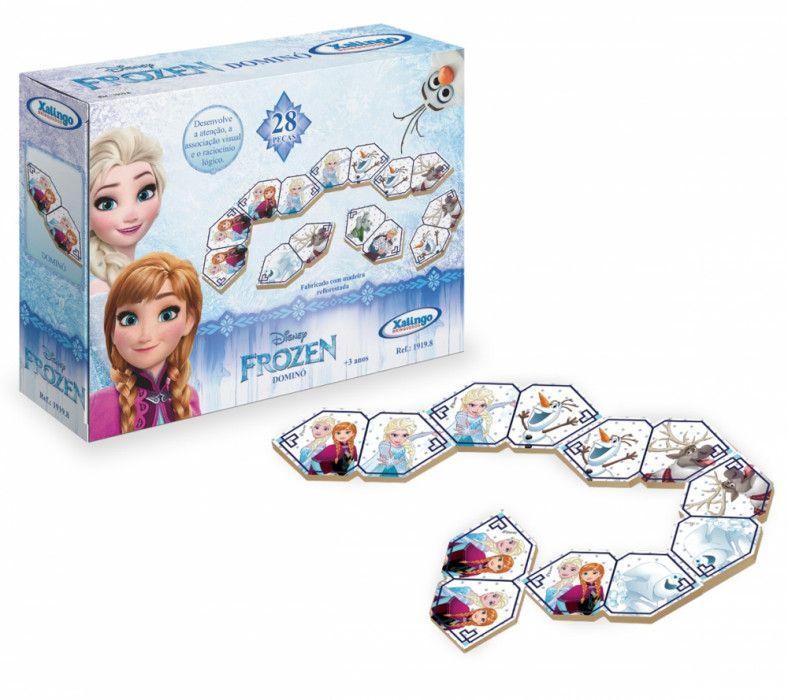 Jogo Dominó Frozen Disney 28 Peças