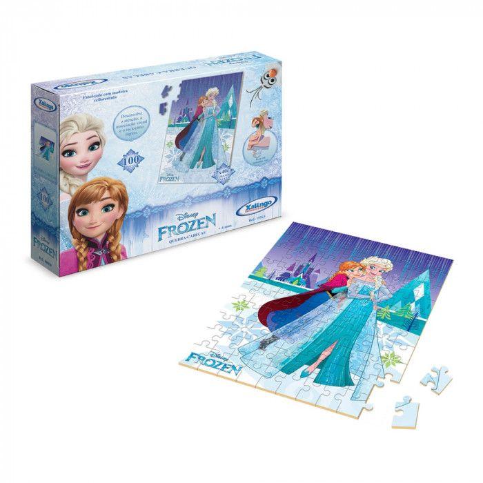 Jogo Quebra-cabeça 100 peças Frozen Disney