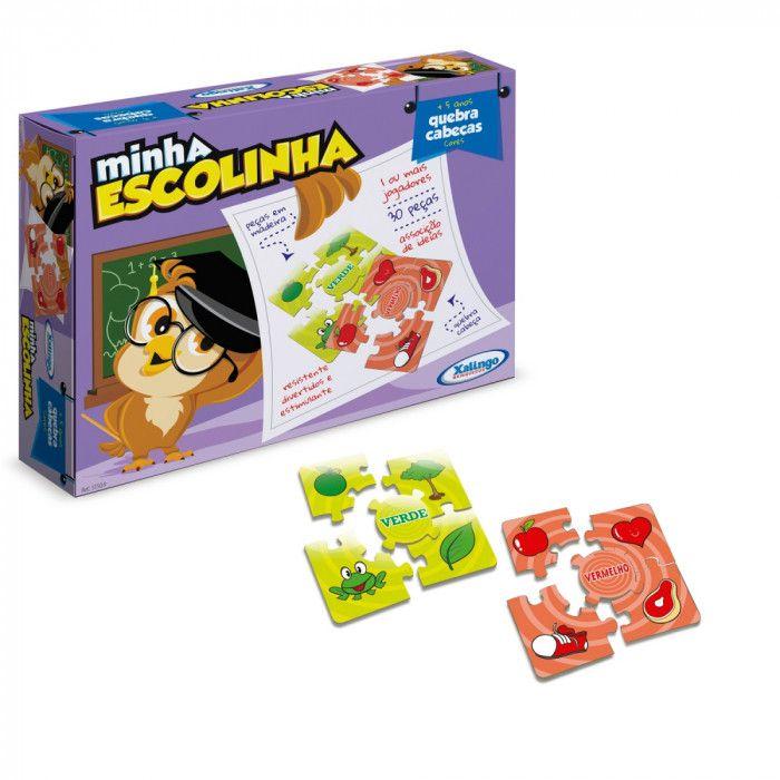 Jogo Quebra-cabeça Três Porquinhos Minha Escolinha em Madeira