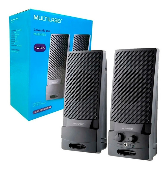 CAIXA DE SOM MULTILASER 2.0 STANDARD USB SP050 PRETO