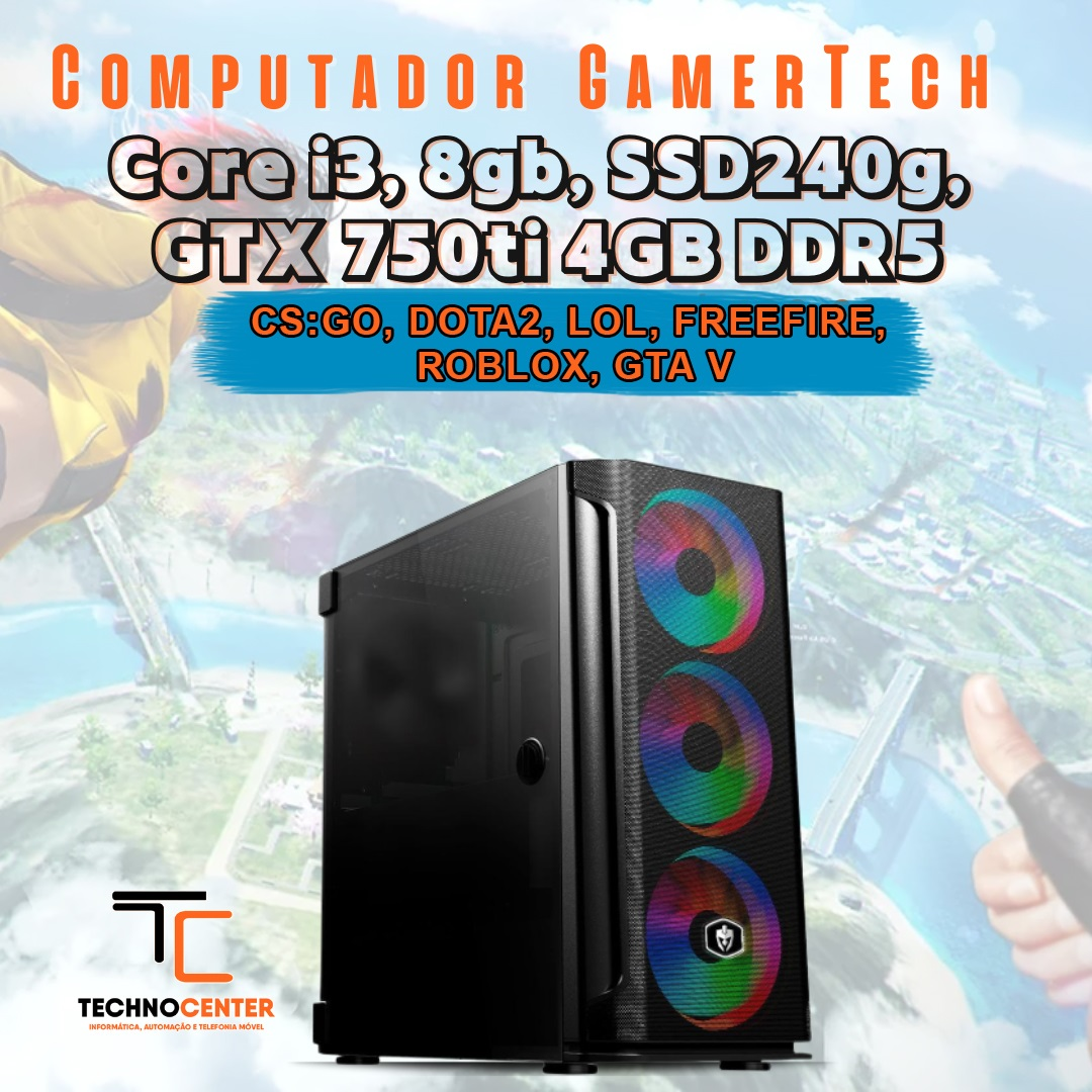 COMPUTADOR GAMER CORE I3 10100 8GB SSD240G GTX 750TI 4GB