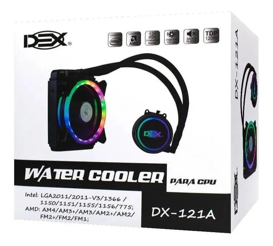 Cooler Water 120mm RGB Para Processador Intel E Amd Gamer DX-121A Dex