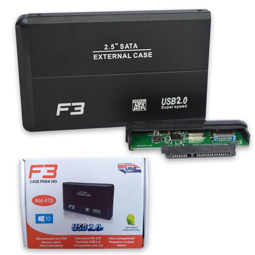 "GAVETA P/HD 2.5"" USB 3.0 F3 PRETO - 140"