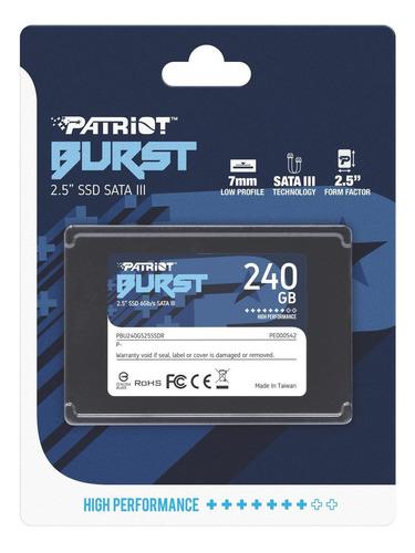 HD SSD 240GB PATRIOT BURST PBU240GS25SS - INSTALADO!