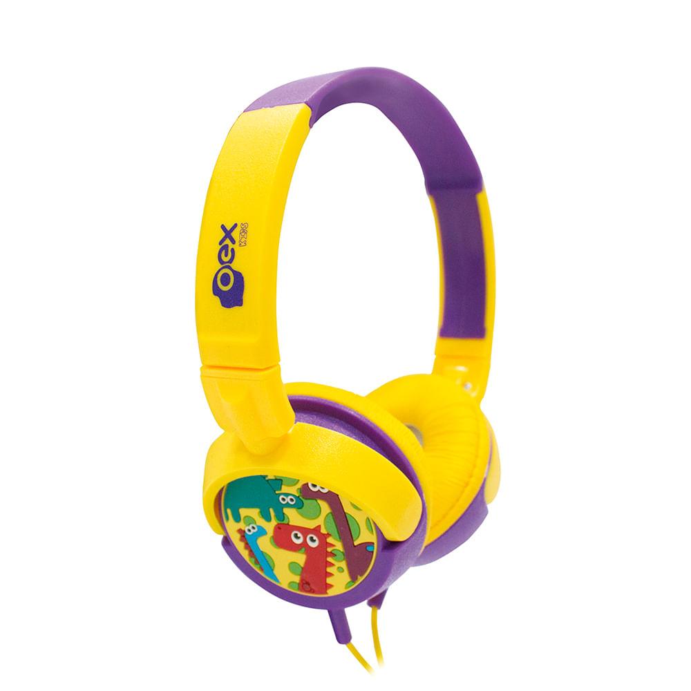HP300 HEADPHONE DINO INFANTIL OEX