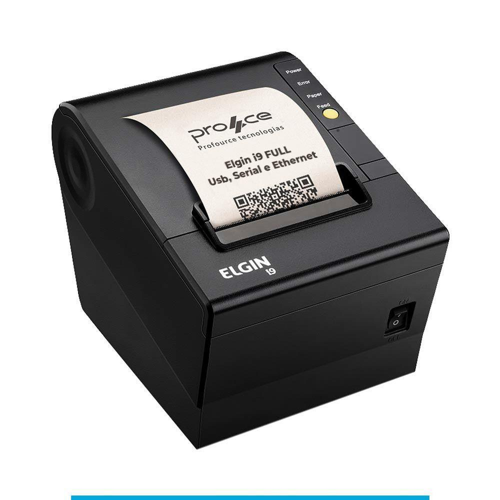 IMPRESSORA ELGIN I9 FULL USB SERIAL ETHERNET COM GUILHOTINA