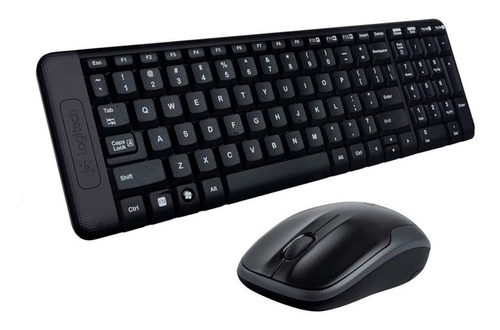KIT MOUSE+TECLADO LOGITECH MK220 S FIO USB RC NANO PRETO