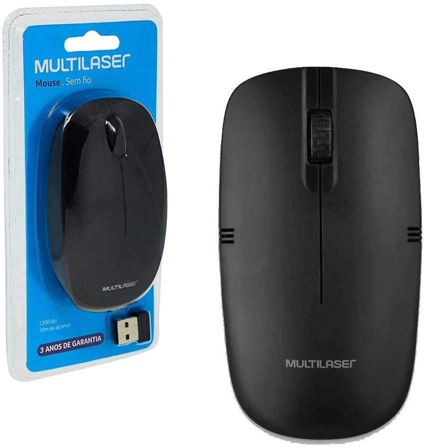 MOUSE MULTILASER WIRELESS 2.4GHZ PRETO - MO285