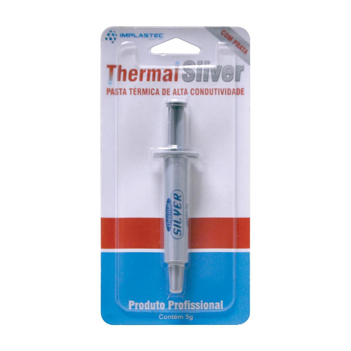 PASTA TERMICA GV THERMAL SILVER 5G BLISTER-Garantia: 90 dias