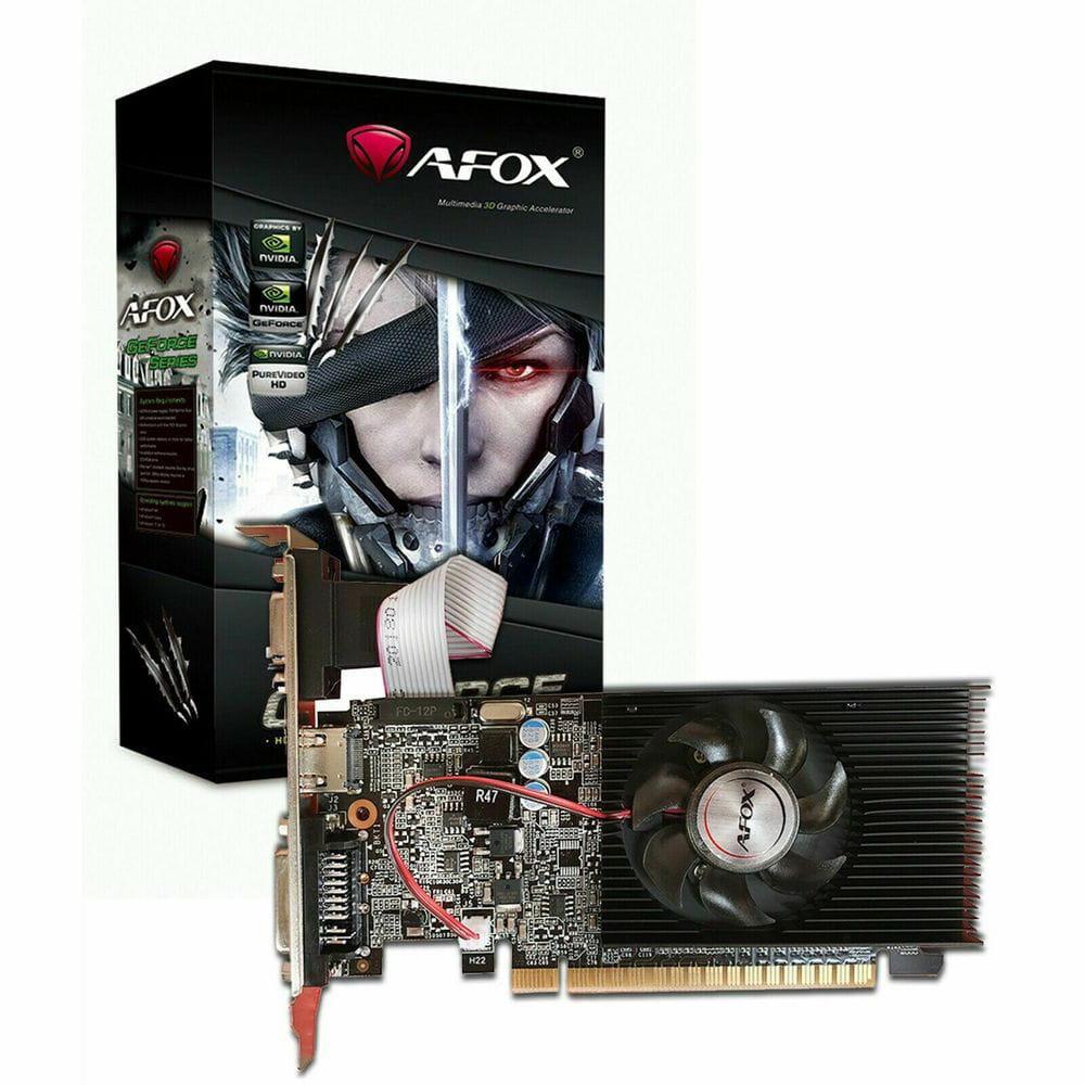 PLACA DE VIDEO 1GB AFOX GEFORCE G210 DDR3 64 BITS - HDMI- DVI - VGA - AF210-1024D3L5-V3-Garantia: 365 dias